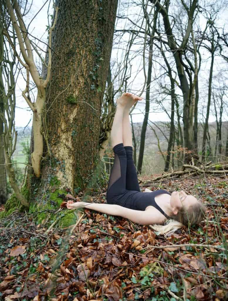 Yoga first trimester: Legs up the tree 1