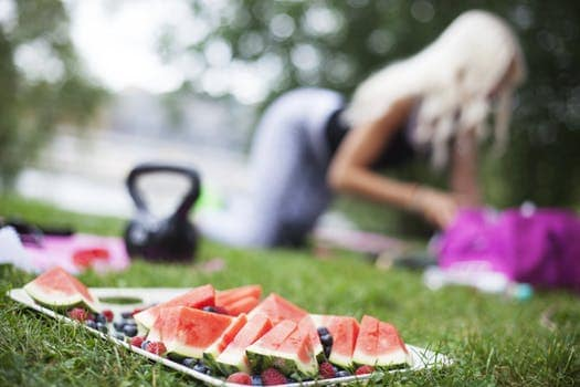 Blonde Watermelon Mindful Eating