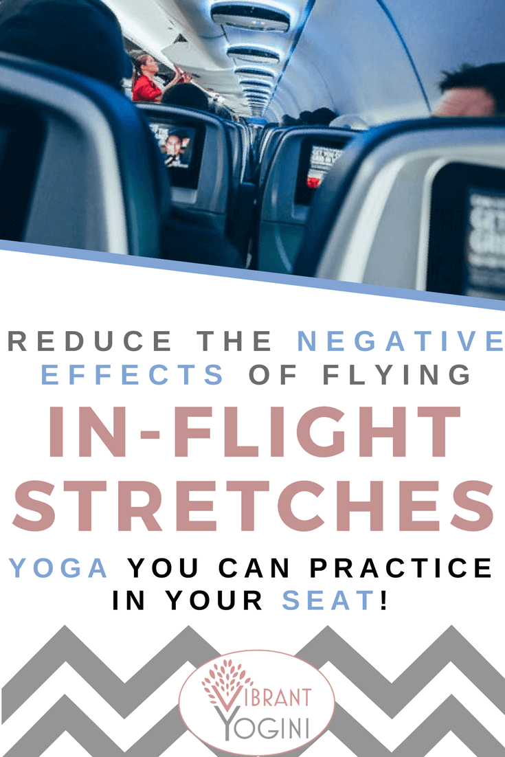 Inflight yoga stretches for flight travel health
