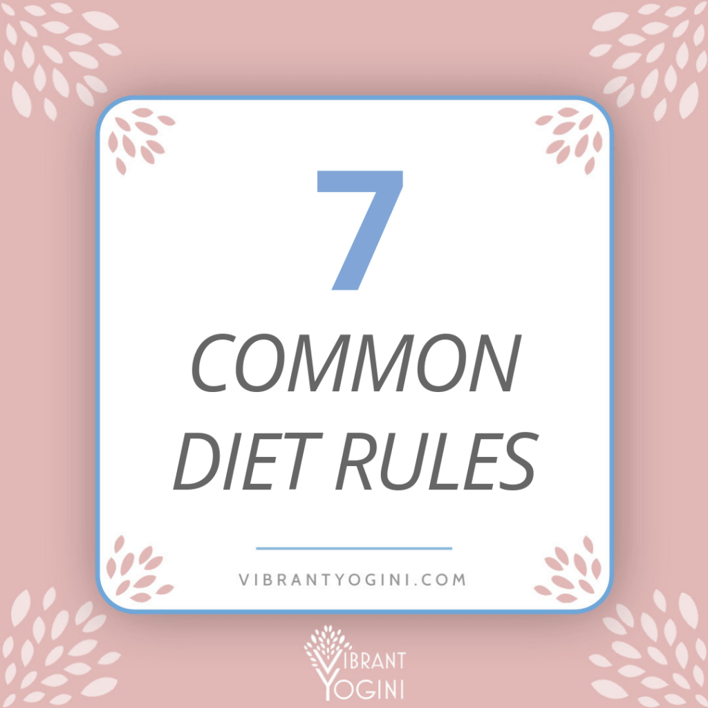 7 common diet rules instagram