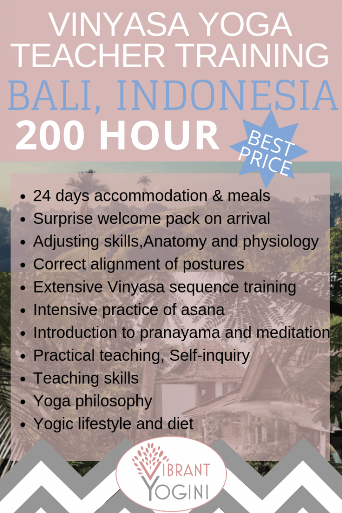 200 hour yoga teacher training Bali
